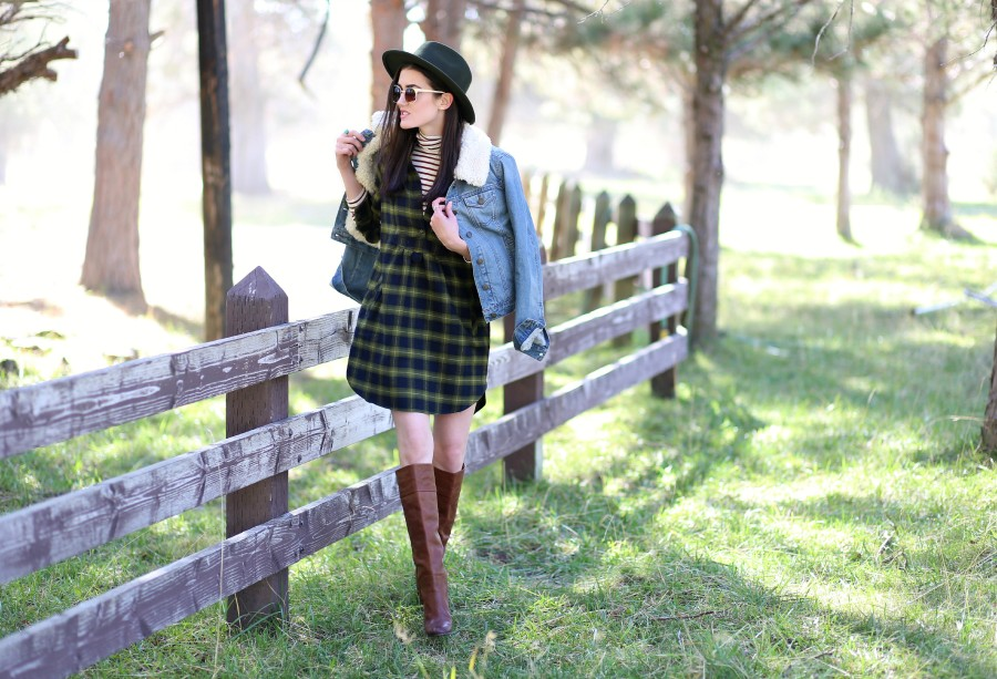 Plaid Flannel Dress 5a