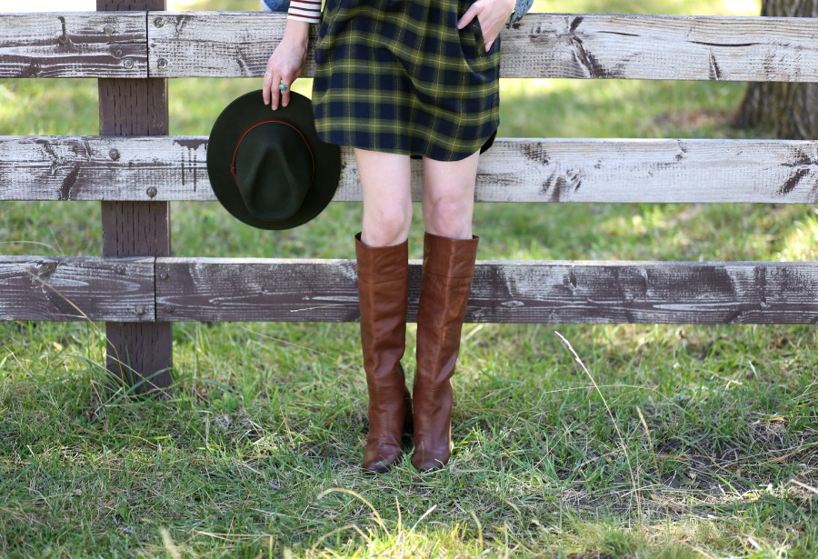 Plaid Flannel Dress 6a