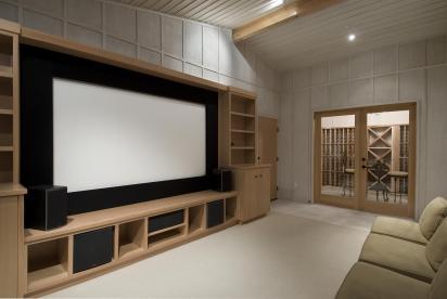 עיצוב פנים של חדר קולנוע פרטי