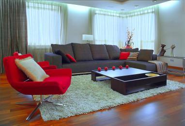 רעיון נוסף לעיצוב חדר הסלון.