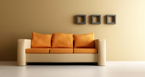 עיצוב נקי של פינת ישיבה ובחירה של גוונים מתאימים