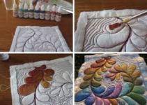 steps of fabric painting