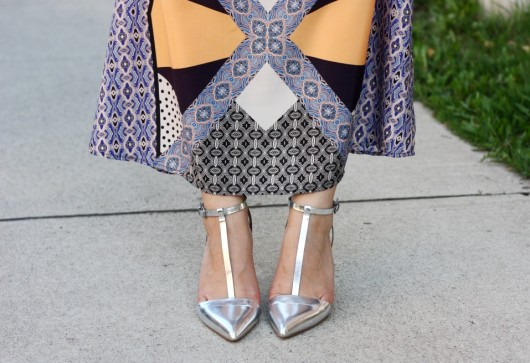 silver-shoes-maxi-dress