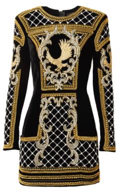 hmbalmaination-lookbook-hm-balmain-collection-beaded-dress