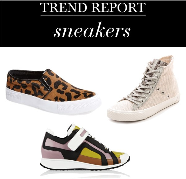 spring 2014 sneakers Spring Trend Report: Gladiators, Mules, & Sneakers