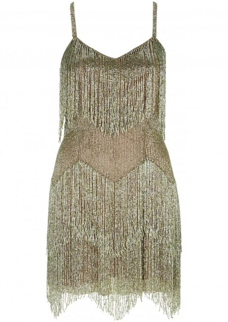 beaded fringe dress Kate Moss Brings Back Boho Glam in Latest Topshop Collaboration