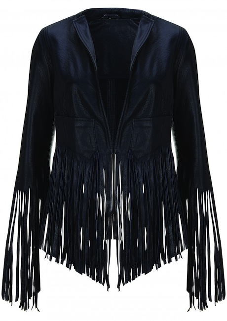 fringe leather jacket Kate Moss Brings Back Boho Glam in Latest Topshop Collaboration