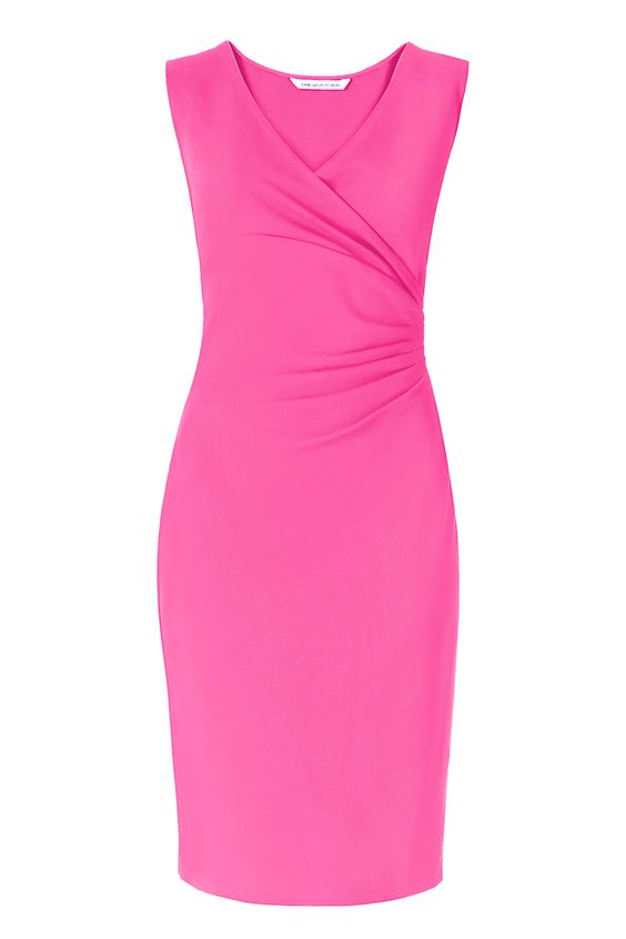 dvf ruched sheath dress
