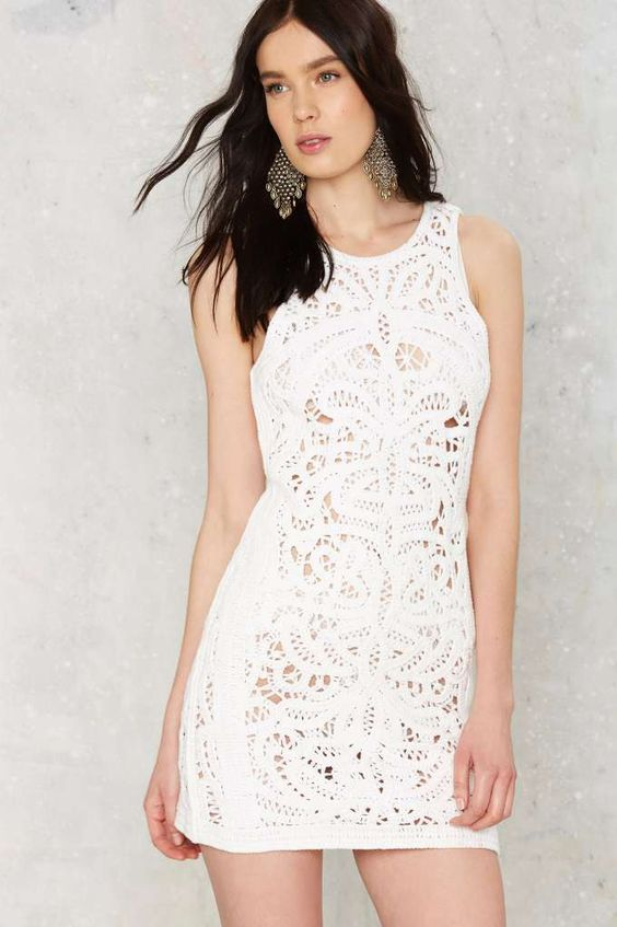nasty gal crochet beach dress