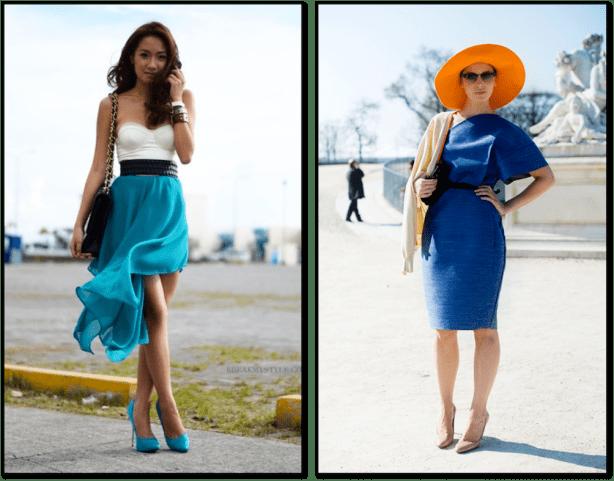 blue and orange fashion