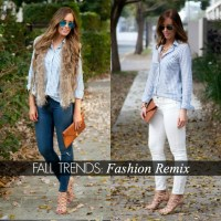 Style Sessions Fashion Link Up: Fall Trends - Blue Stripe Shirt
