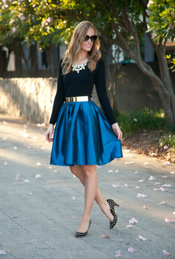 12 Style Sessions Fashion Link Up: Spring Style   Cobalt Skirt