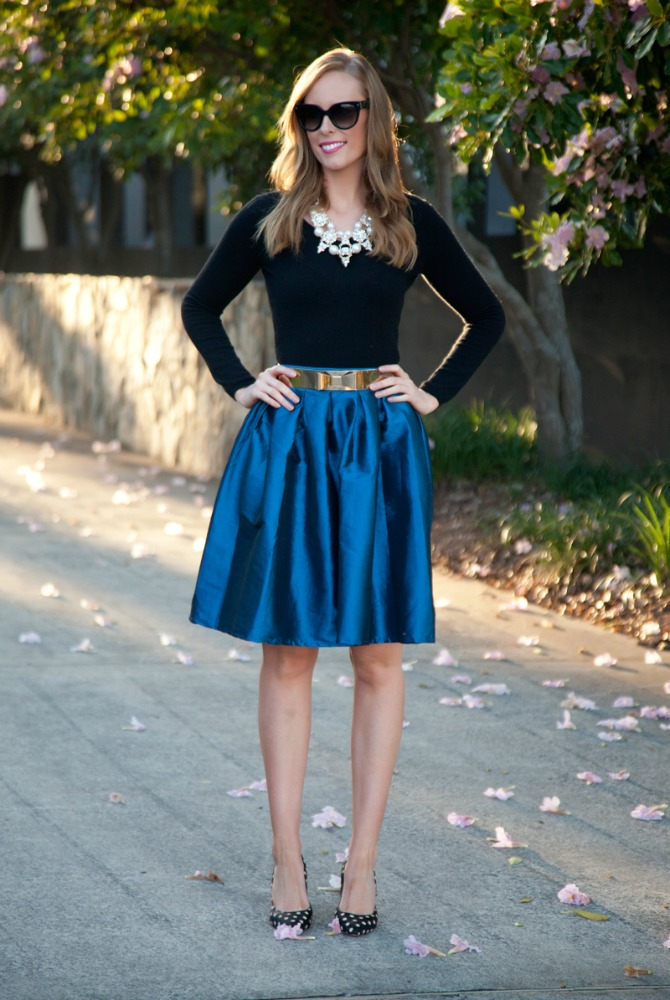 6 Style Sessions Fashion Link Up: Spring Style   Cobalt Skirt
