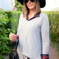 Style Sessions Fashion Link Up - My Favorite Plaid Shirt and Cashmere Sweater