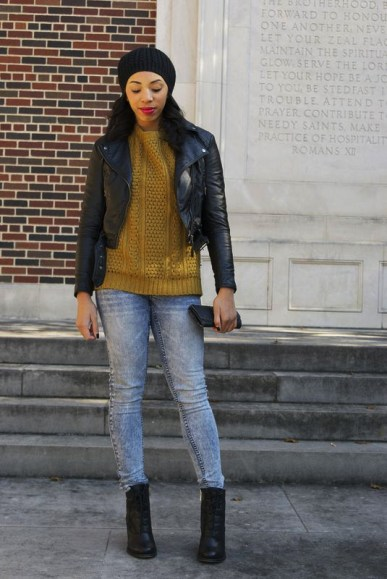 style-me-twice-nasty-gal-camden-boot-forever-21-cozy-mixed-knit-sweater-h&m-leather-jacket-kaylah-burton