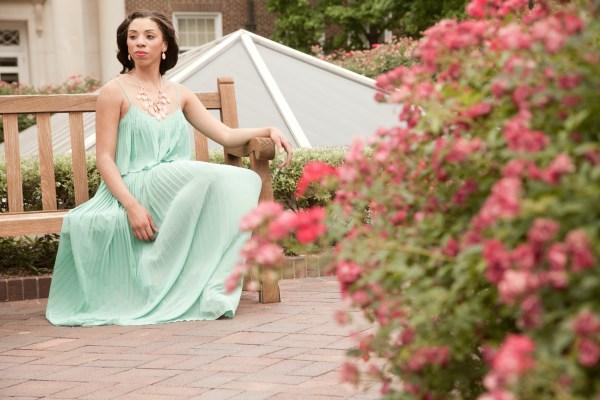 style_me_twice_kaylah_burton_charming_charlie_pink_necklace_set_forever_21_green_maxi_dress_badgley_mishcka_nude_heel_dallas_bloggers_smu_style