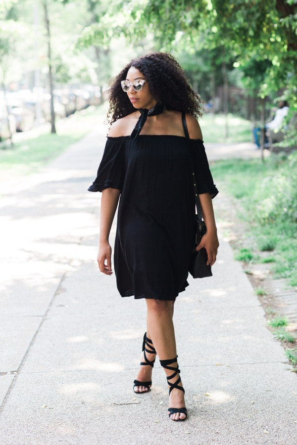 Kaylah-Burton-Style-Me-Twice-Quay-Isabella-Sunglasses-Target-Style-Off-The-Shoulder-Top-Steve-Madden-Christey-Sandal-NYC-Style