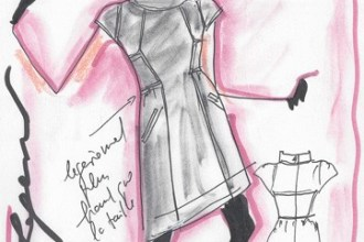 Karl Lagefeld Sketches for Macys 1