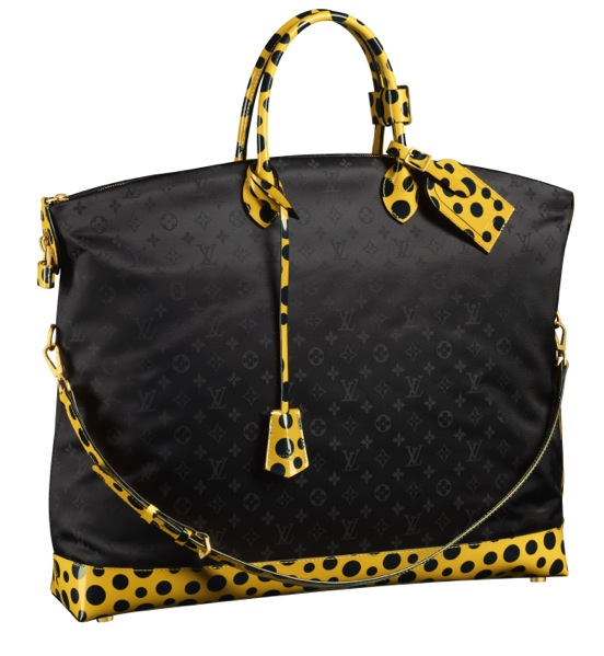 Yayoi Kusama Louis Vuitton Lockit GM Monogram Nylon Dots Infinity yellow