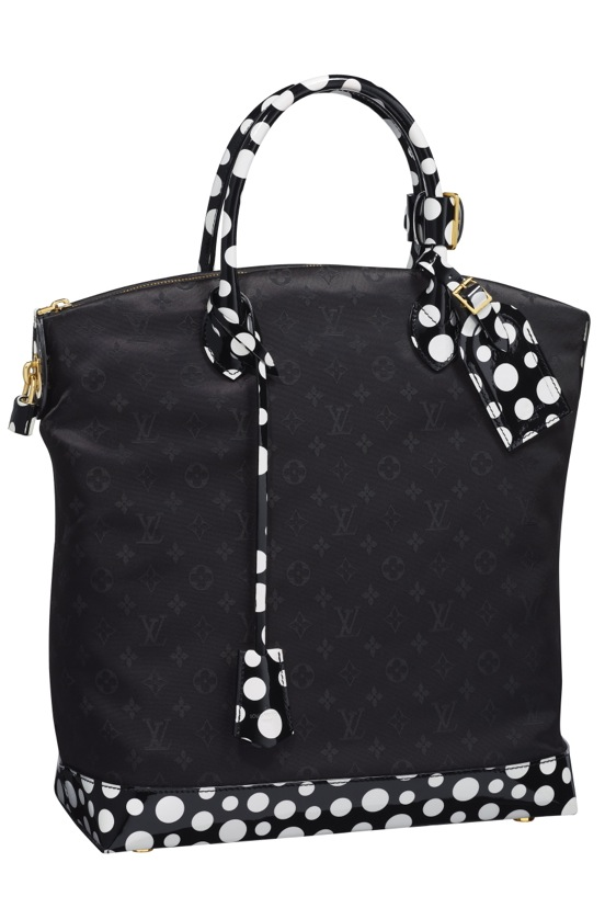Yayoi Kusama Louis Vuitton Lockit MM Monogram Nylon Dots Infinity black