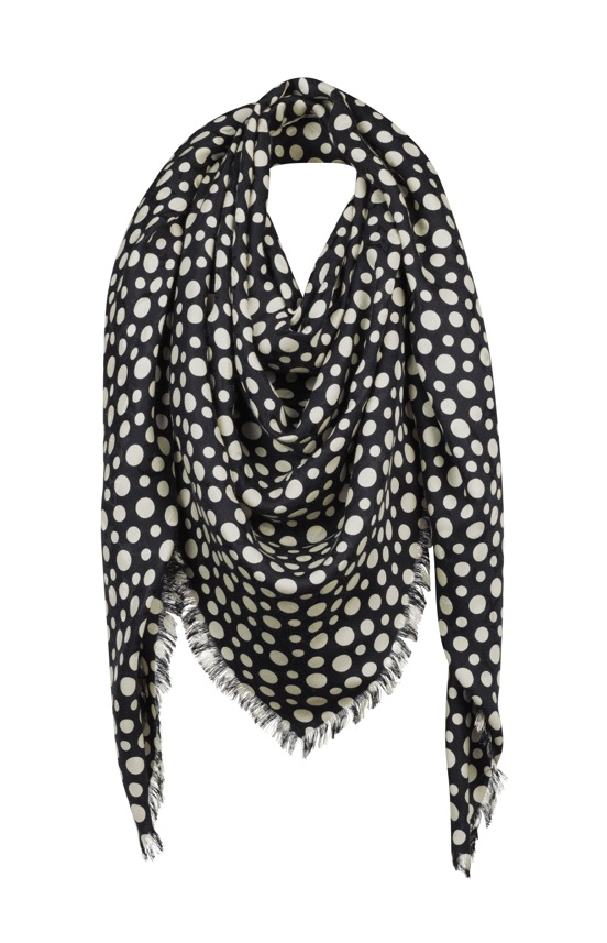 Yayoi Kusama Louis Vuitton Monogram Shawl Dots Infinity black