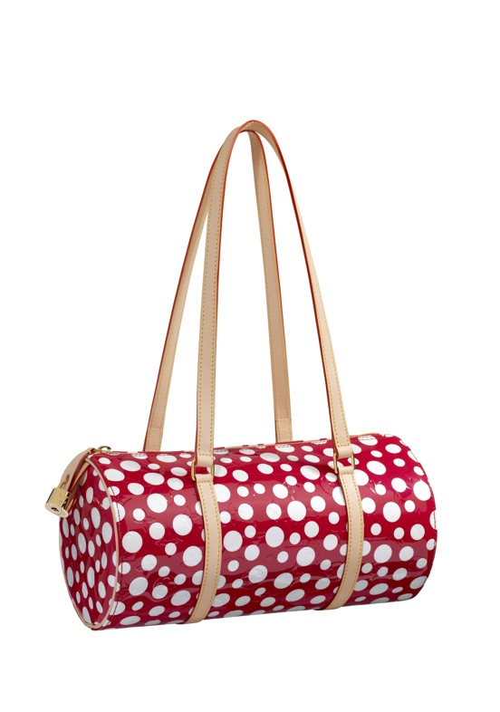 Yayoi Kusama Louis Vuitton Papillon Monogram Vernis Dots Infinity red