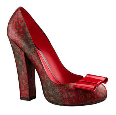 Yayoi Kusama Louis Vuitton Pump Monogram Waves red