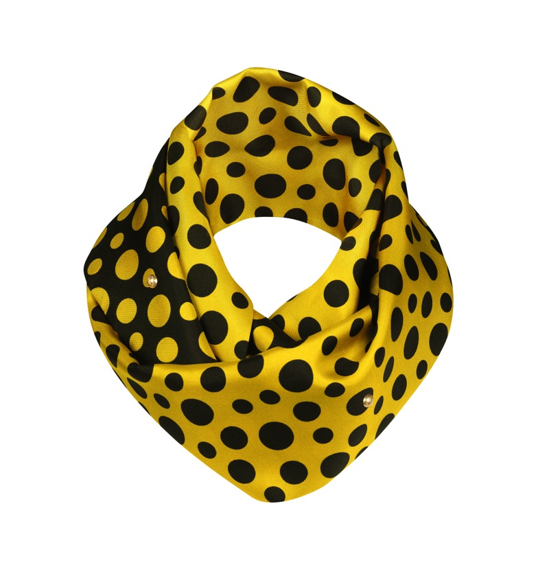 Yayoi Kusama Louis Vuitton Snood Dots Infinity yellow
