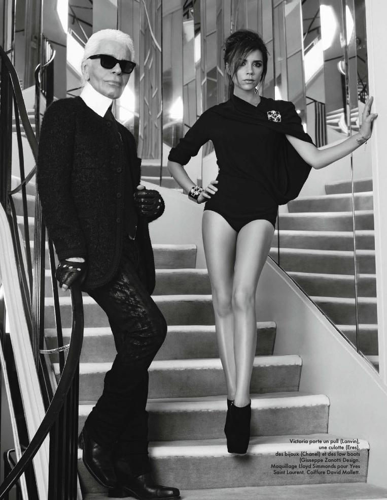 ELLE France Victoria Beckham By Karl Lagerfeld 6