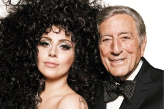 Lady Gaga and Tony Bennet in HM 2014 Holiday Campaign