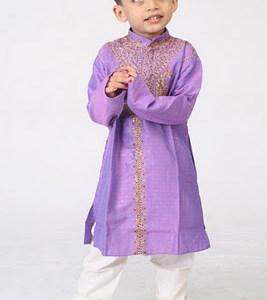New Purple kids outfits design for Eid ul Azha