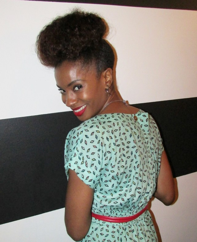 I had fun..can you tell?  Rocking my Janelle Monae bun lol