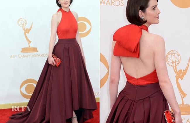 Michelle-Dockery-In-Prada-2013-Emmy-Awards