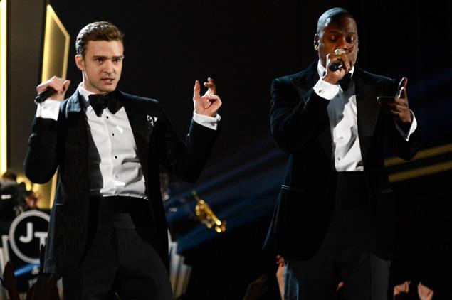 Jay-Z and Justin Timberlake in Tom ford Photo: Getty Images