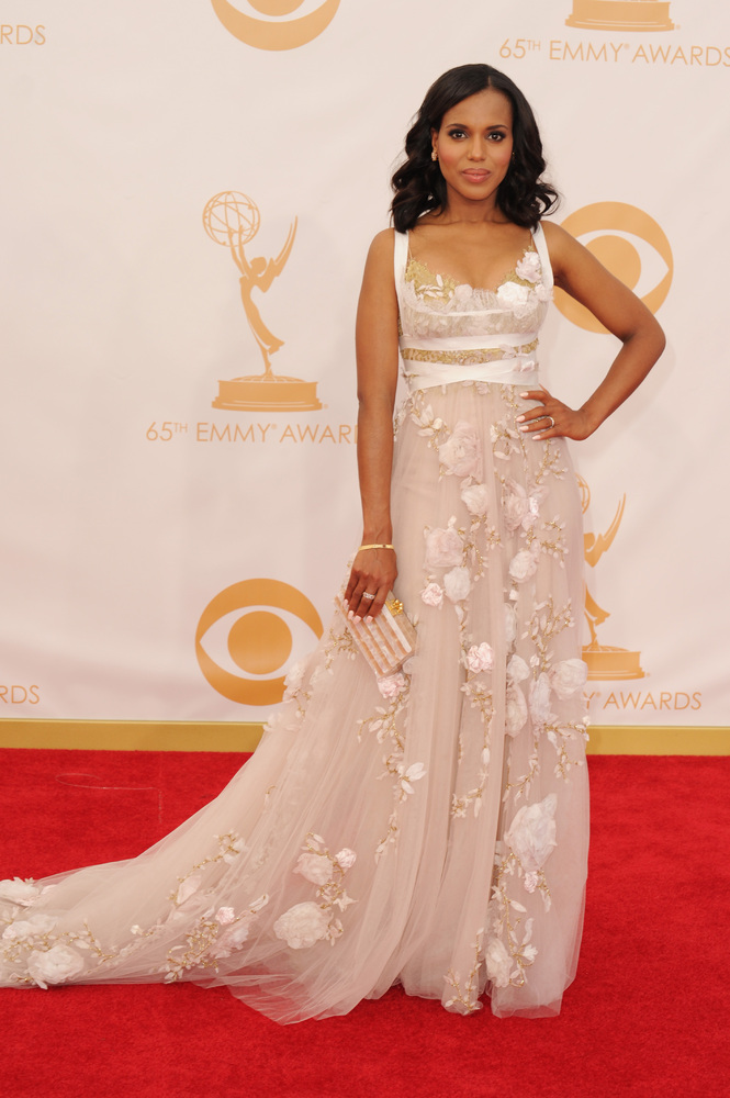 Kerry Washington in Marchesa. This dress is straight off of the NYFW runway! (Photo: Getty Images and Huff Post Style)