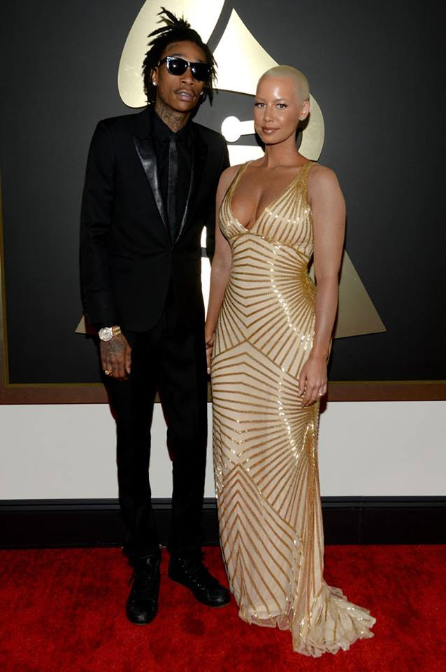Wiz Khalifa and Amber Rose in Naeem Khan