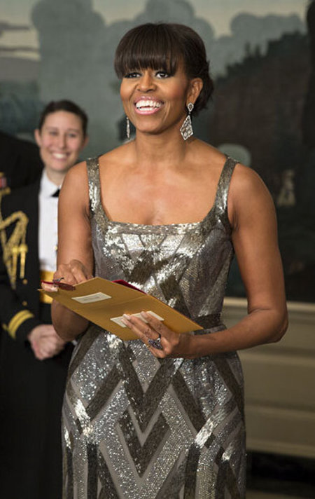 michelle_obama_oscars Michelle Obama in Naeem Khan