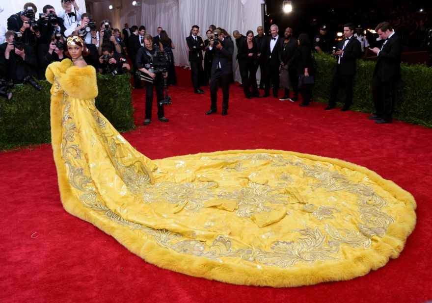 Rihanna in Guo Pei at the 2015 Met Gala Photo: Getty