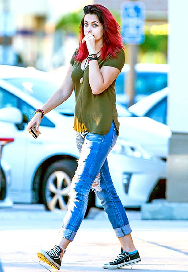 Paris Jackson Dyes Her Hair Red Just In Time For Fall!