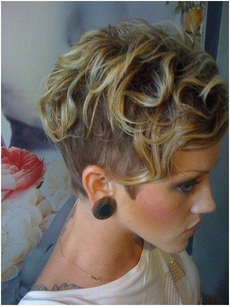 Shaved Haircuts with Short Curly Hair - Short Fine Hairstyles