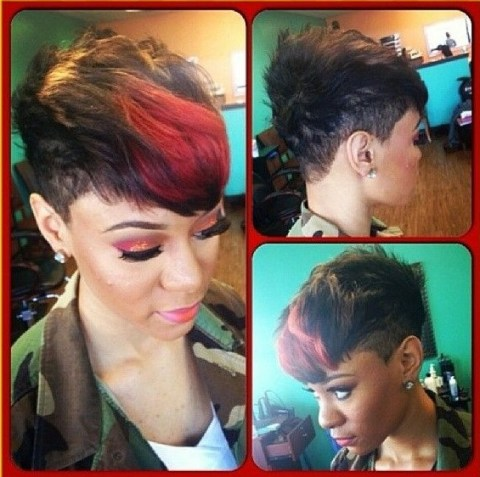 stylish short haircuts african