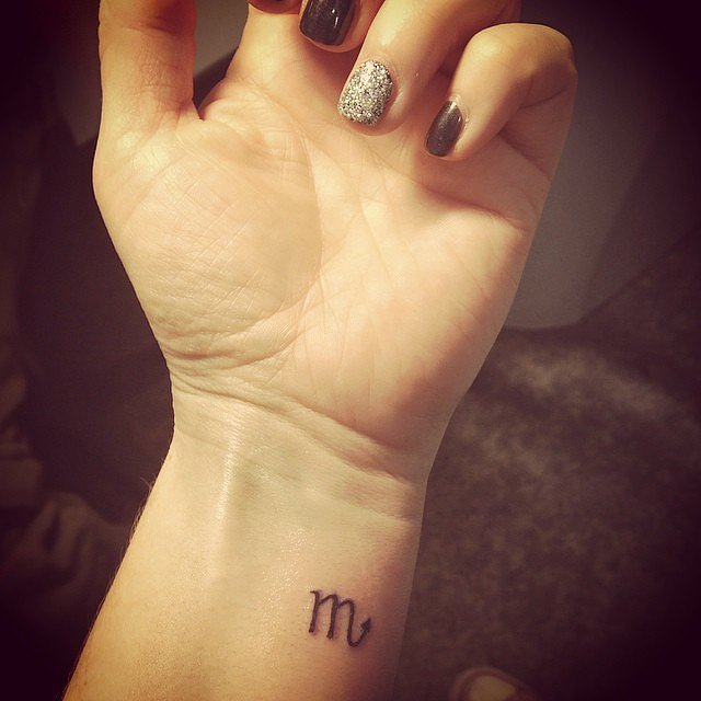 46 small tattoos designs for women tiny tattoos for for Simple scorpion tattoo