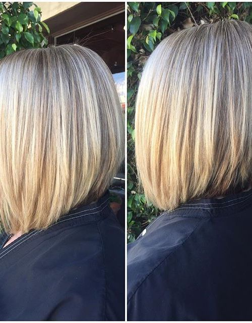 A-line Bob hair color ideas