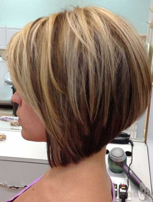 short inverted bob hairstyle with layers