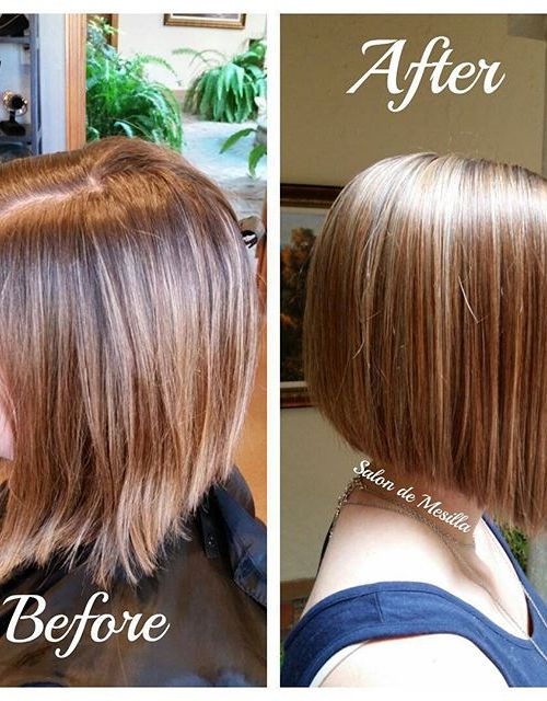 short straight a-line bob hairstyle