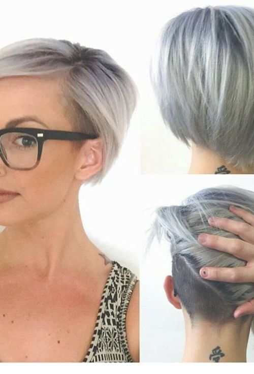 Chic Asymmetrical Bob hairstyle with glasses