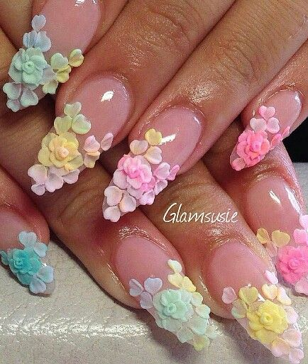 18 vintage floral nail designs you will love crazyforus vintage floral nail design prinsesfo Image collections