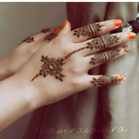 Mehndi Designs In Fingers : Hand finger mehndi designs for autumn events