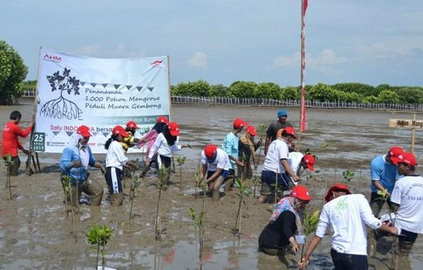 Peringati Hari Bumi, Ratusan Sahabat Satu Hati Tanam 1.000 Mangrove