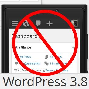 Stop Responsiveness WordPress 3.8